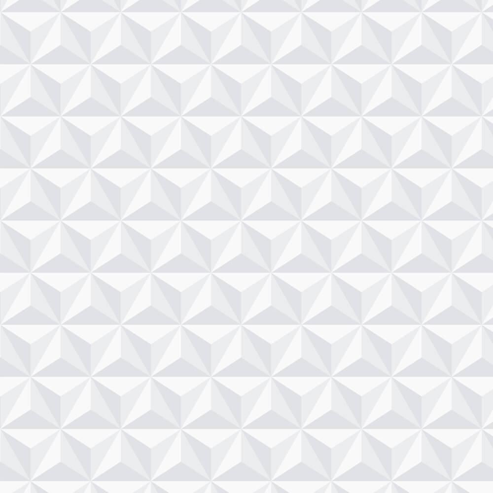 Papel de Parede 3D - Clean 3D Branco
