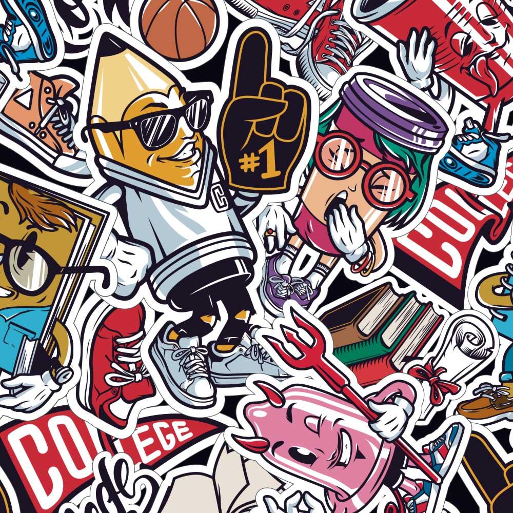 Papel de Parede Comic Stickers 2
