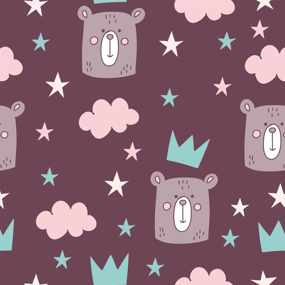 Papel de Parede Coruja, Coelho e Urso 3