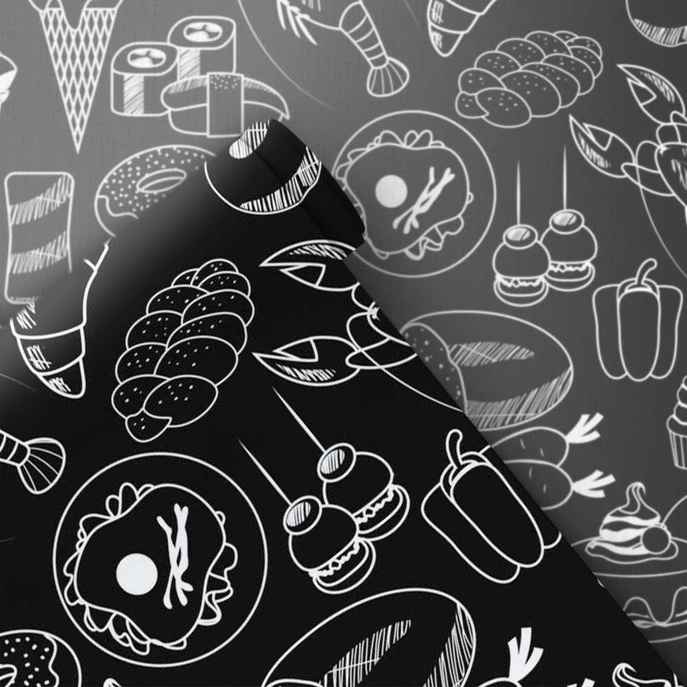 Papel de Parede Cozinha Desenhada 2