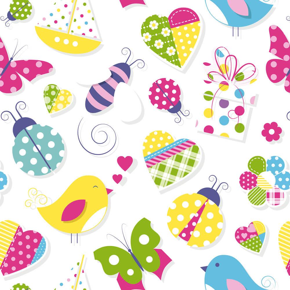Papel de Parede Infantil - Cute Clipart
