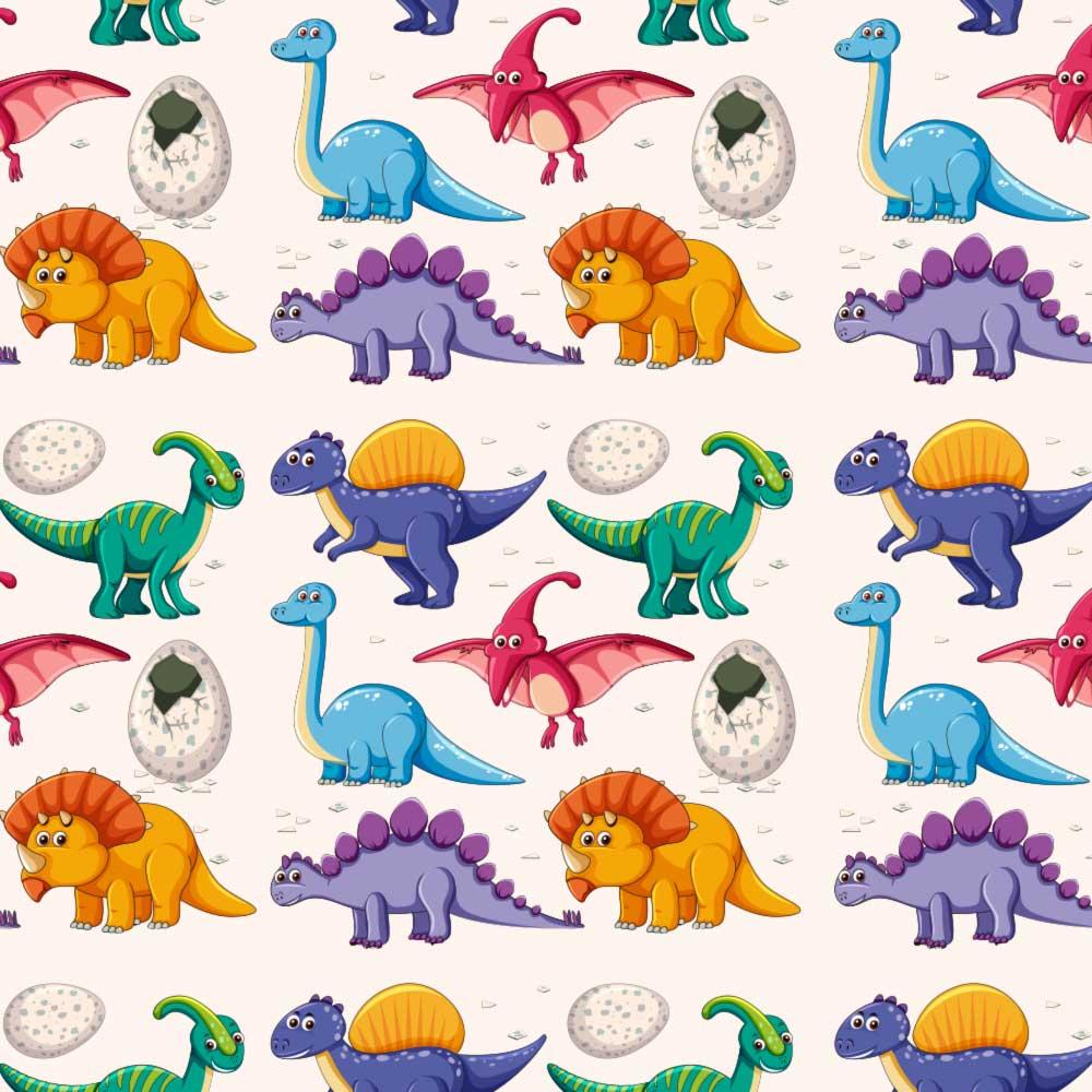 Papel de Parede Dinossauros Coloridos 2
