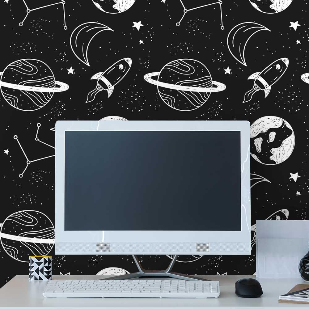 Papel de Parede Espaço Desenhado