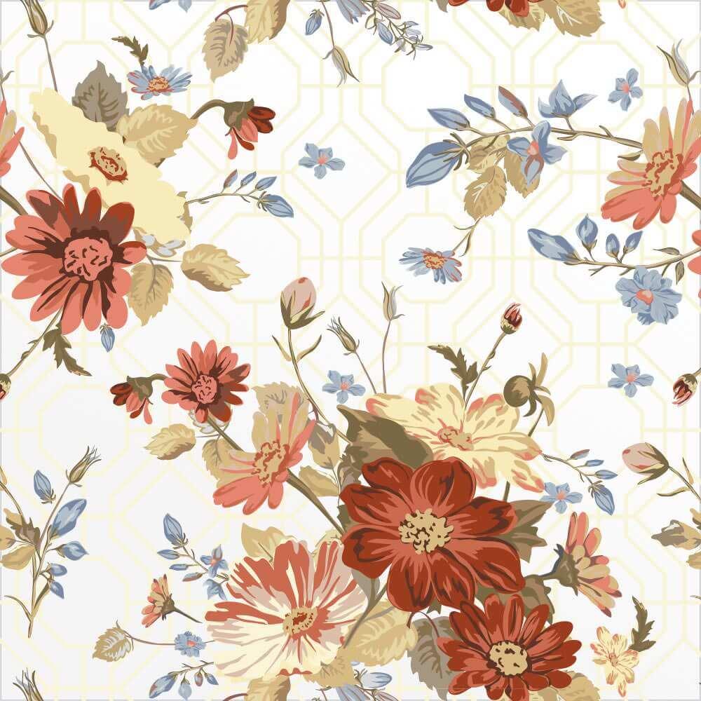 Papel de Parede Floral 4