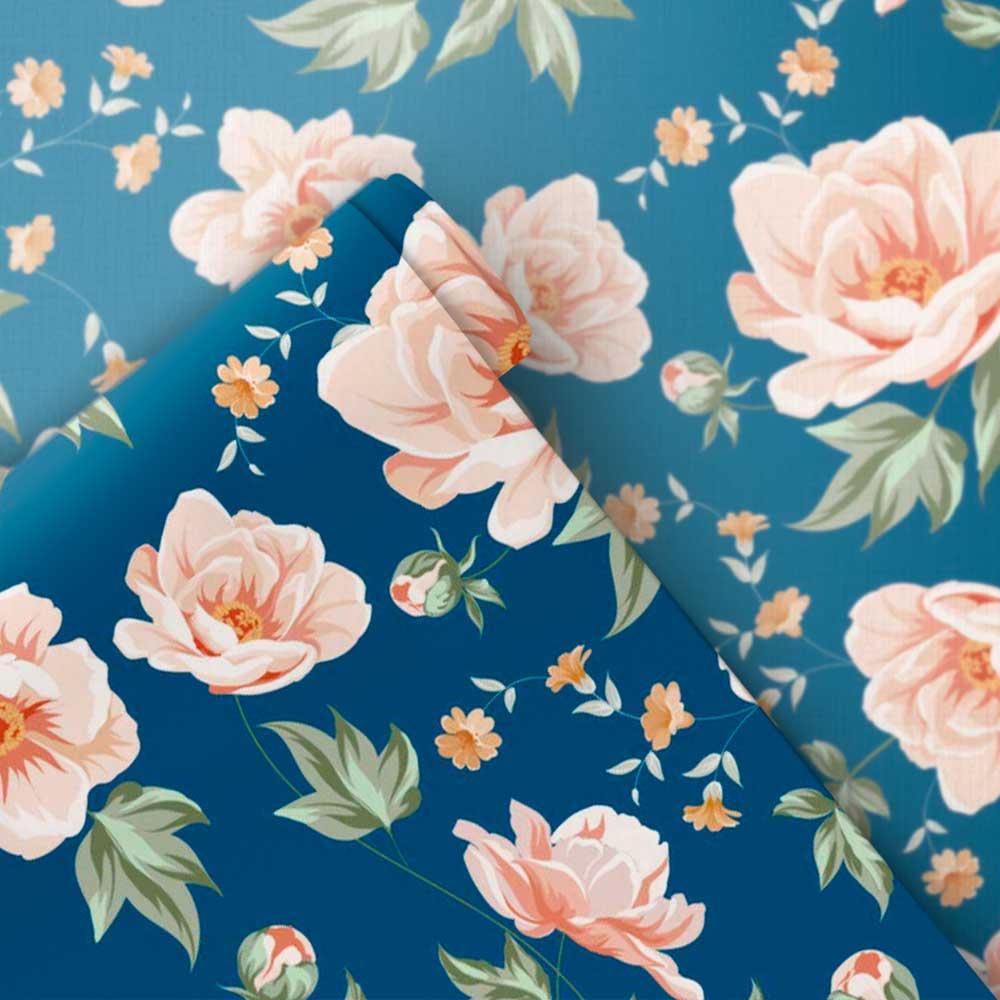 Papel de Parede Floral Retrô 4
