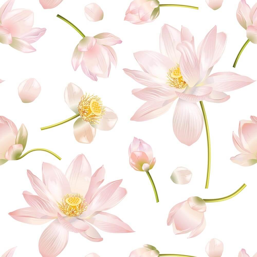 Papel de Parede Floral Rosa 2
