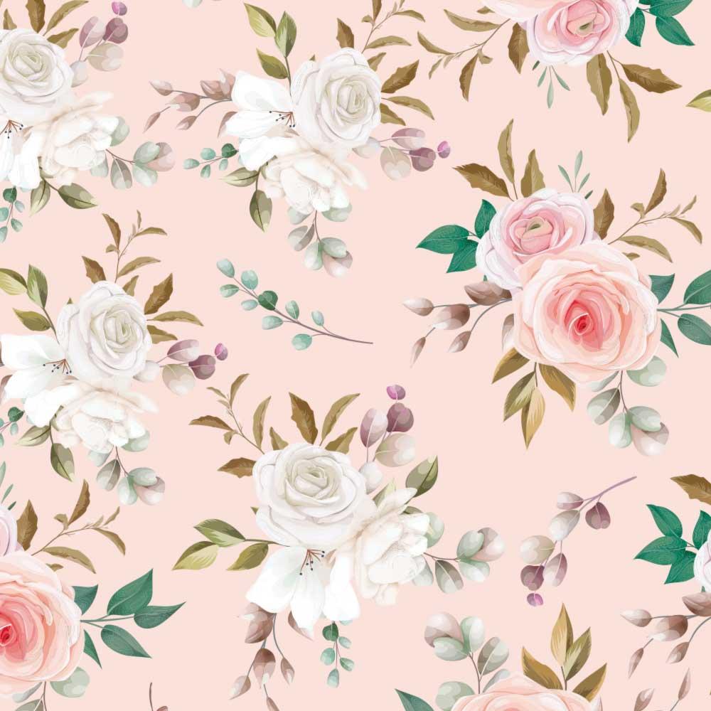 Papel de Parede Floral Rosas 3