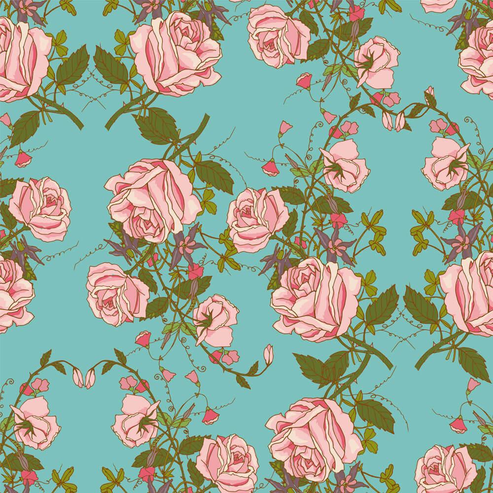 Papel de Parede Floral Silvestre 2