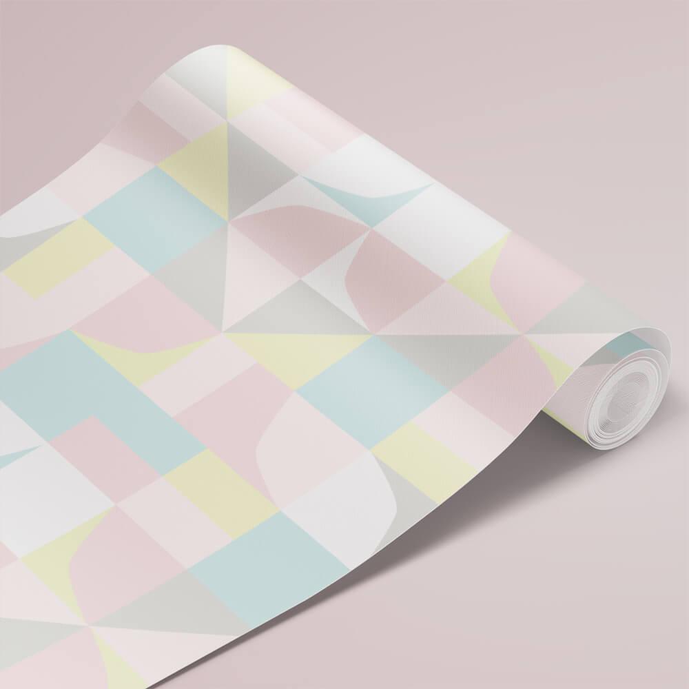 Papel de Parede Infantil - Formas Abstratas Coloridas