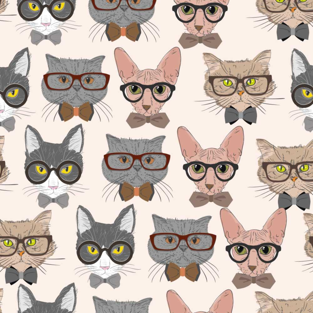 Papel de Parede Gatos Hipsters