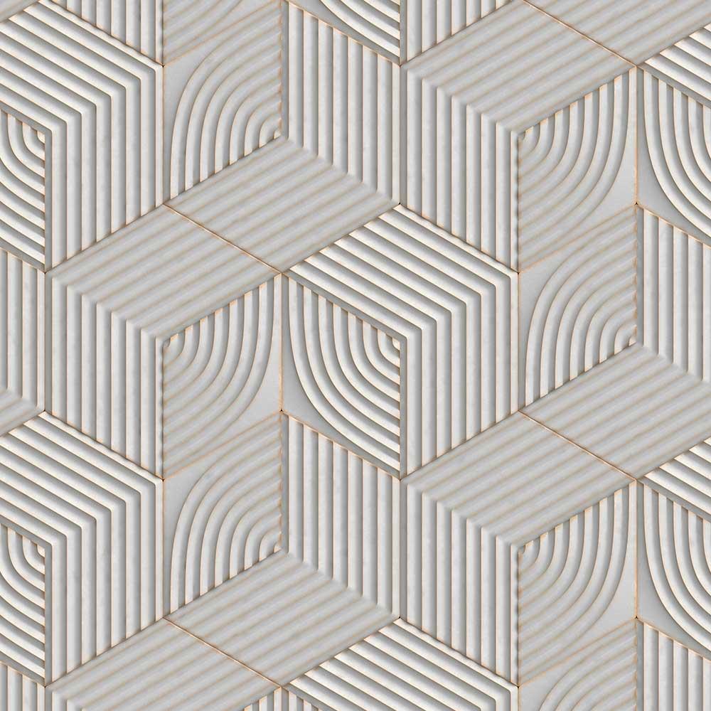 Papel de Parede Geométrico 3D 30