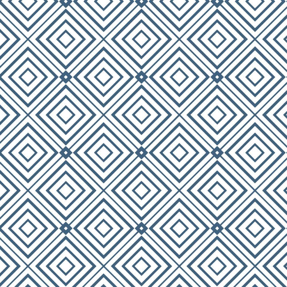 Papel de Parede Geométrico Azul e Branco 1