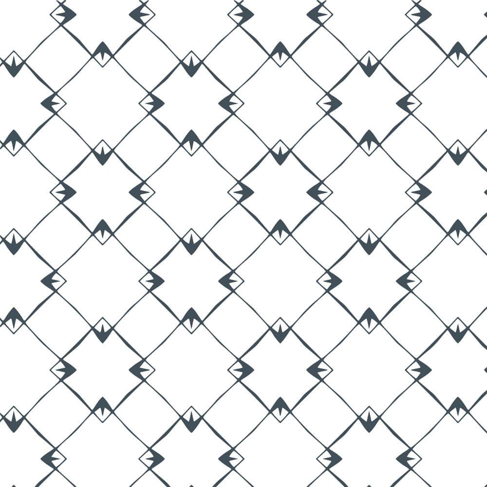 Papel de Parede Geométrico Diagonal Azul e Branco