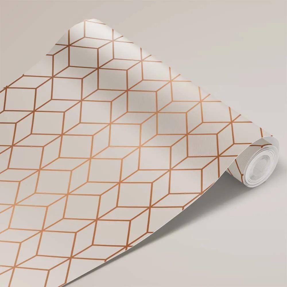 Papel de Parede Geométrico Dourado 1