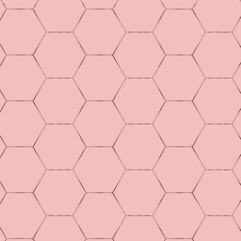 Papel de Parede Geométrico Rose Gold 2