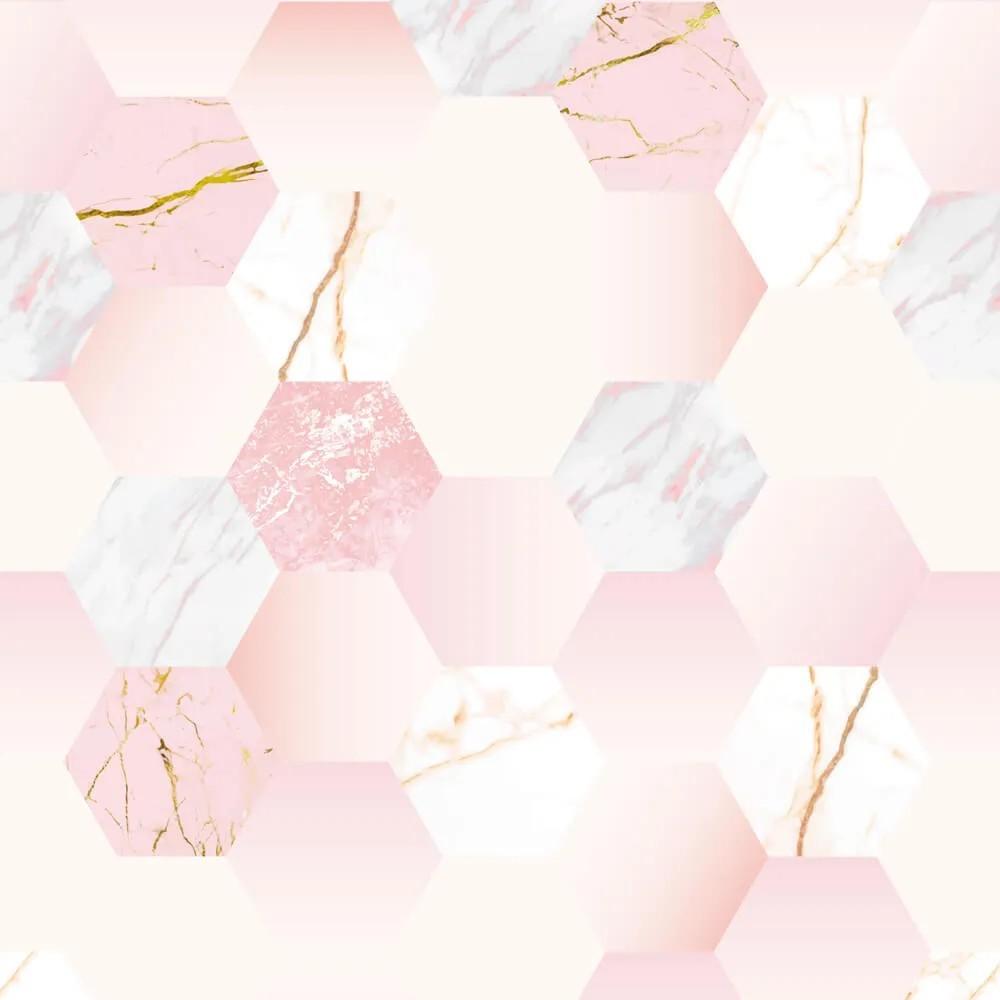 Papel de Parede Geométrico Rose Gold 4