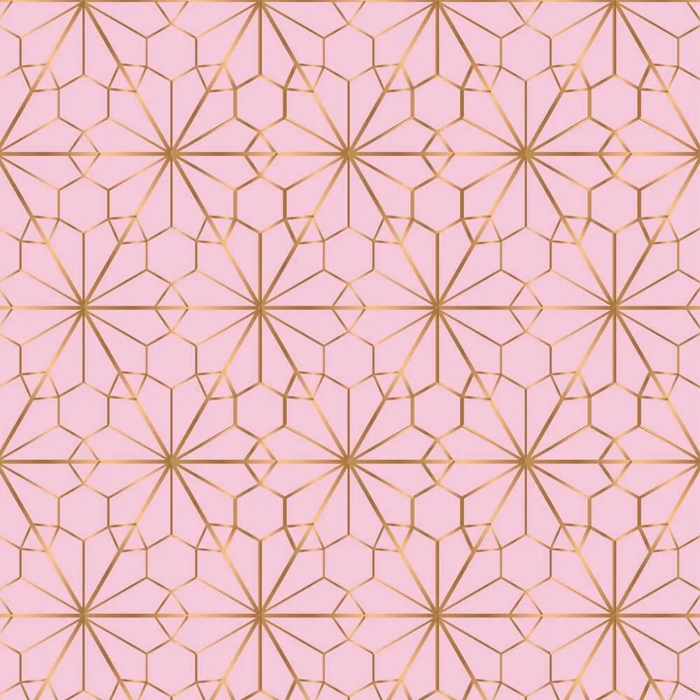Papel de Parede Geométrico Rose Gold 7