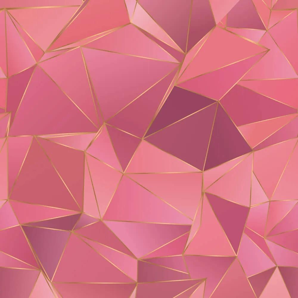 Papel de Parede Geométrico Rose Gold 9