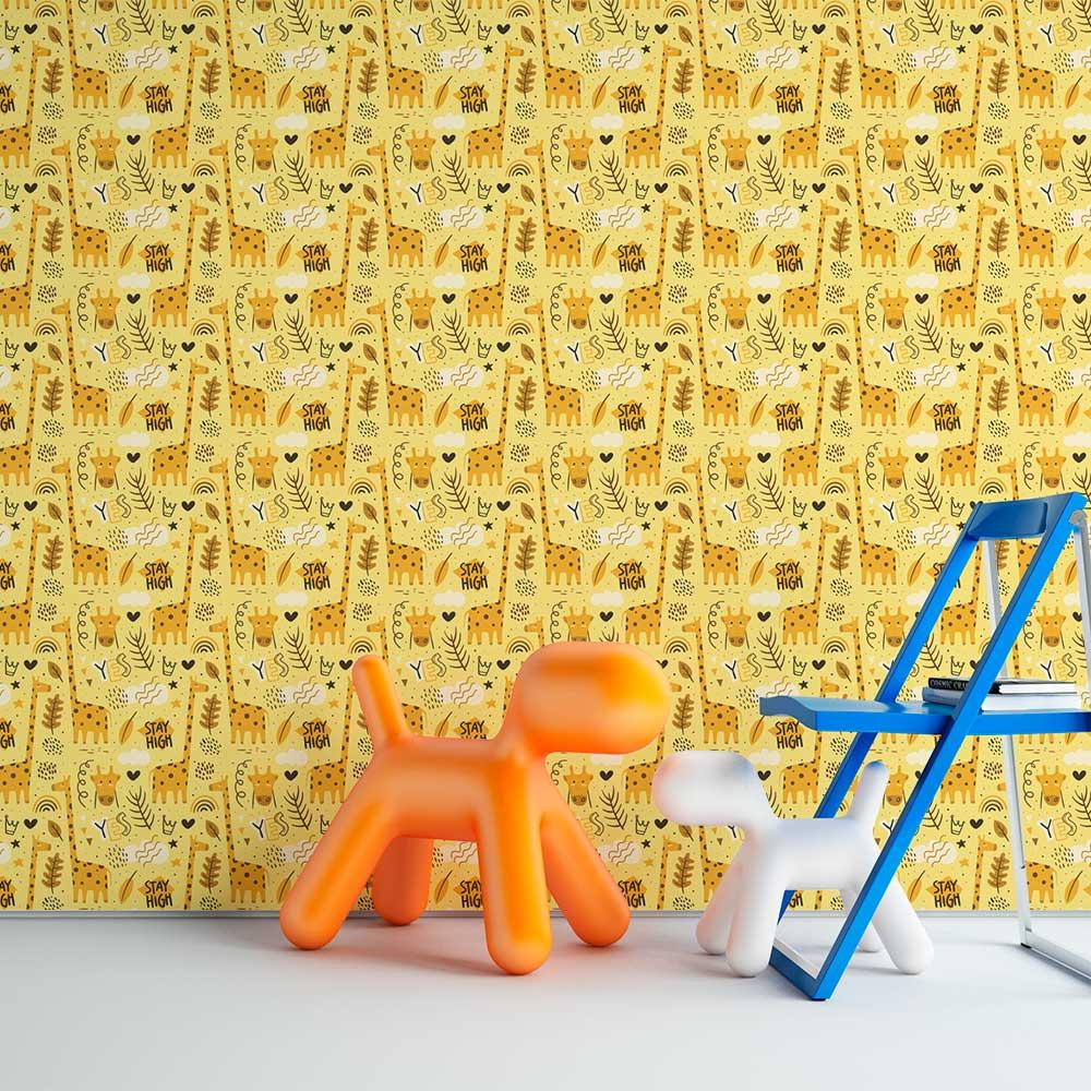 Papel de Parede Infantil - Girafa