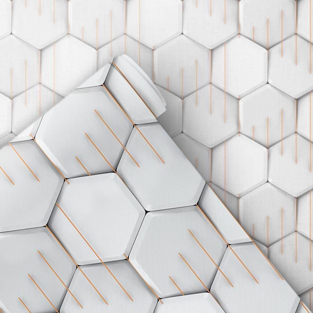Papel de Parede 3D - Hexágono 3D 1