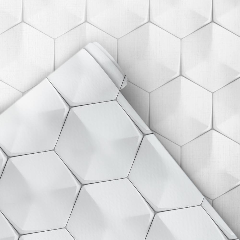 Papel de Parede Hexágono 3D 4
