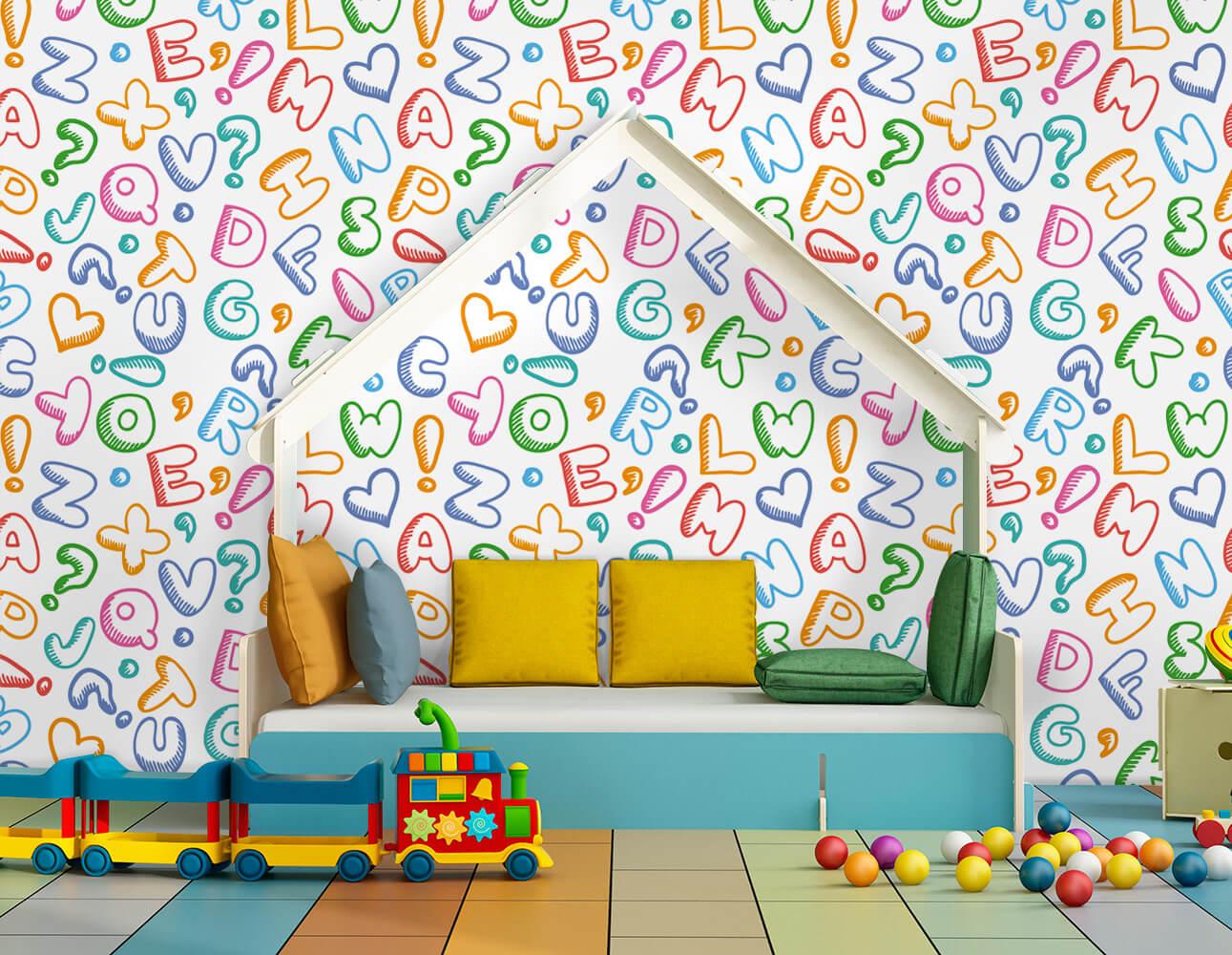 Papel de Parede Infantil - Letras Divertidas