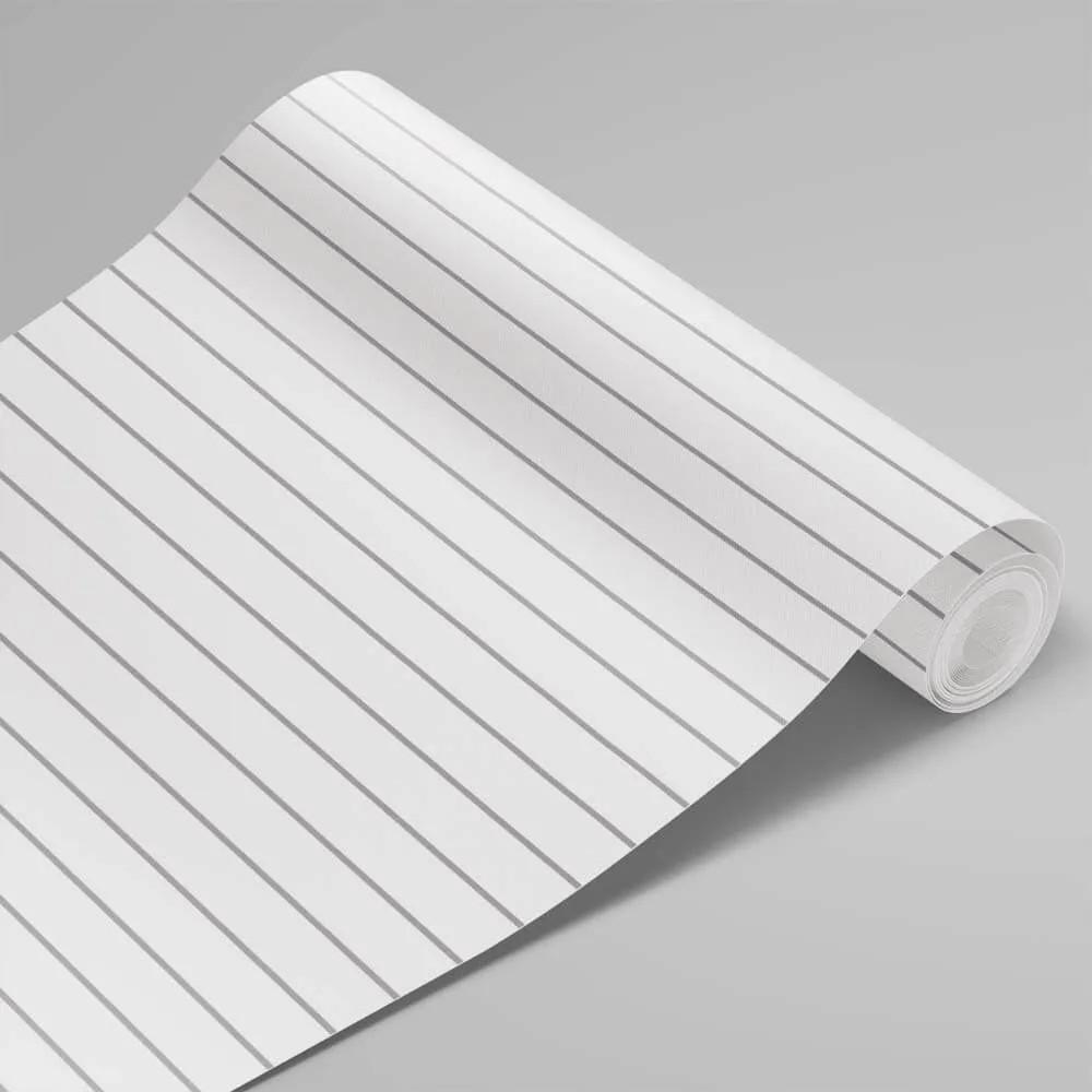 Papel de Parede Linhas Branco e Cinza 1