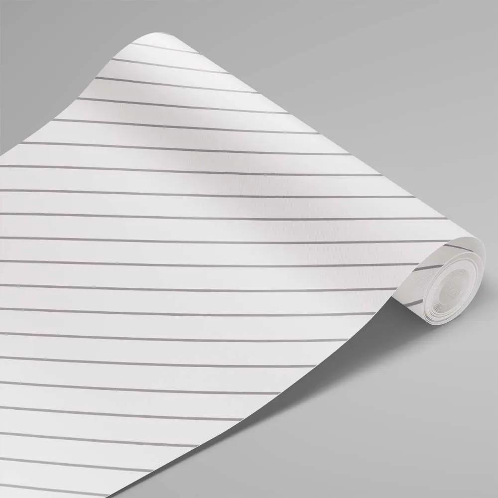 Papel de Parede Linhas Branco e Cinza 3