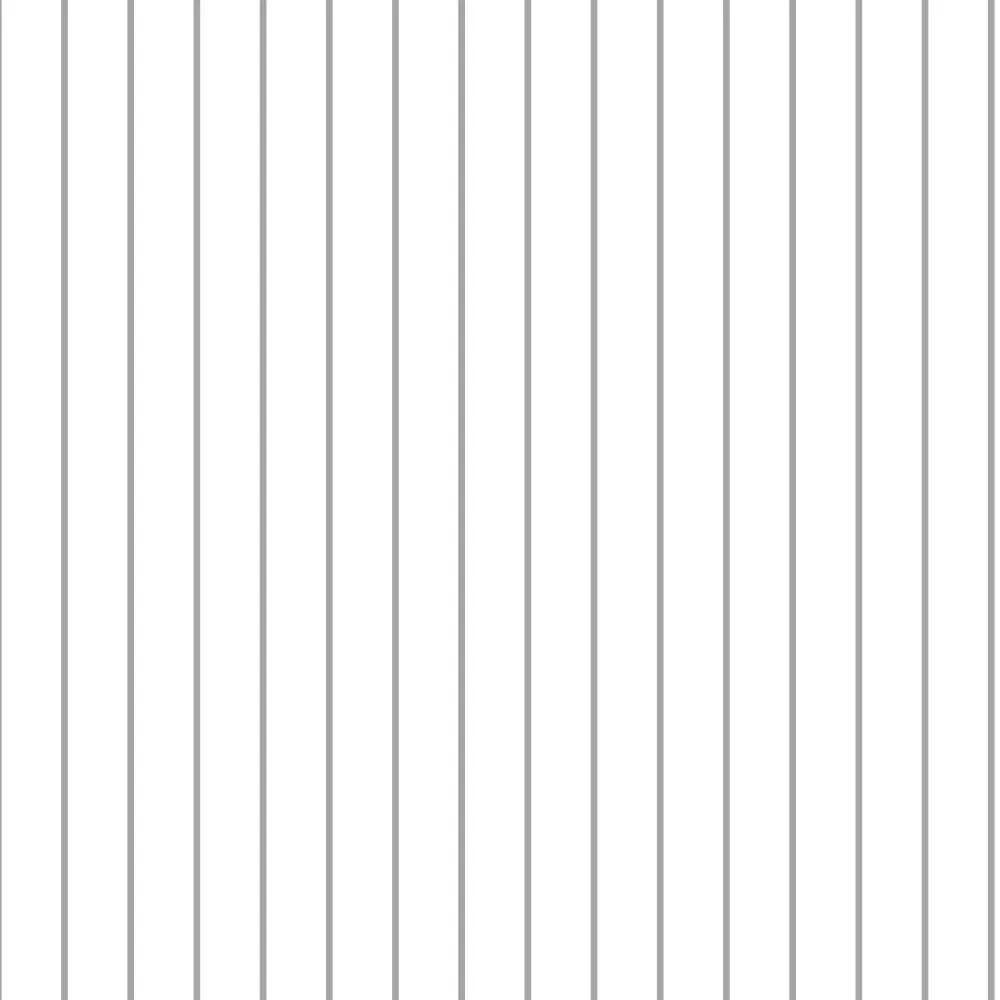 Papel de Parede Linhas Branco e Cinza 4