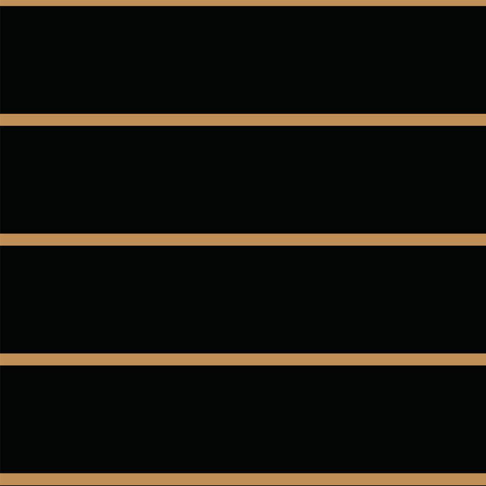 Papel de Parede Linhas Preto e Dourado 1