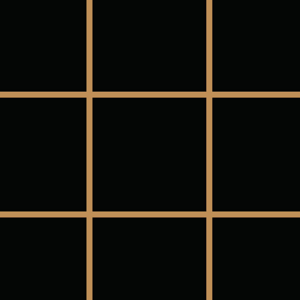 Papel de Parede Linhas Preto e Dourado 2