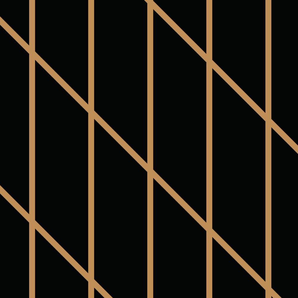 Papel de Parede Linhas Preto e Dourado 3