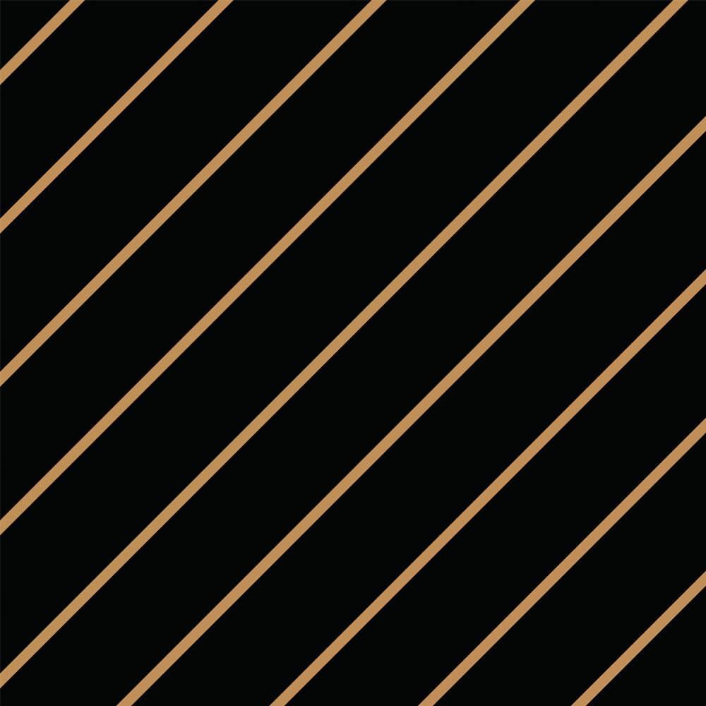 Papel de Parede Linhas Preto e Dourado 5