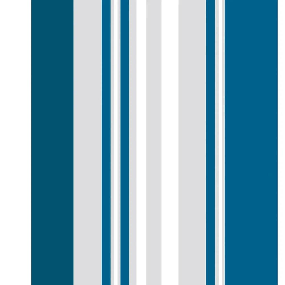 Papel de Parede Listrado Azul e Cinza