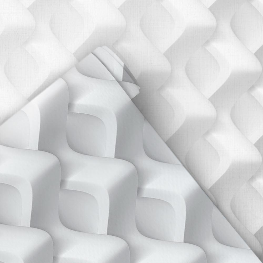 Papel de Parede 3D - Losango Ondas 3D