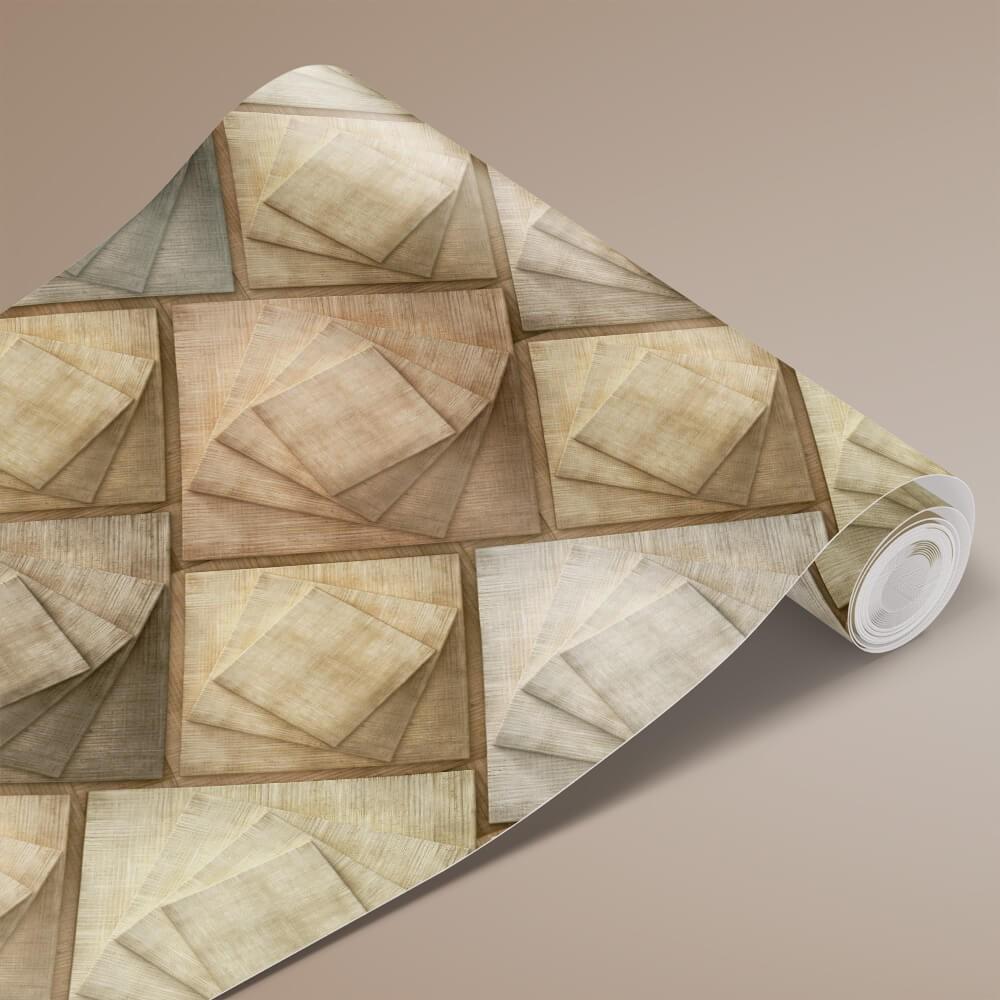 Papel de Parede Madeira 3D