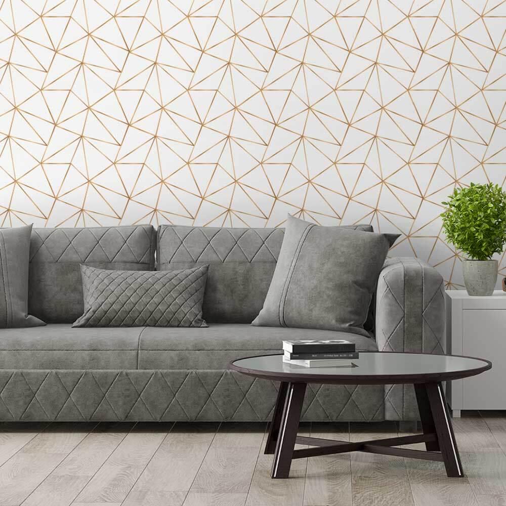 Papel de Parede Mosaico Dourado