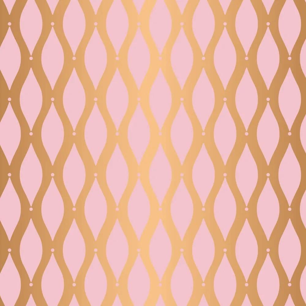 Papel de Parede Ondulado Rose Gold