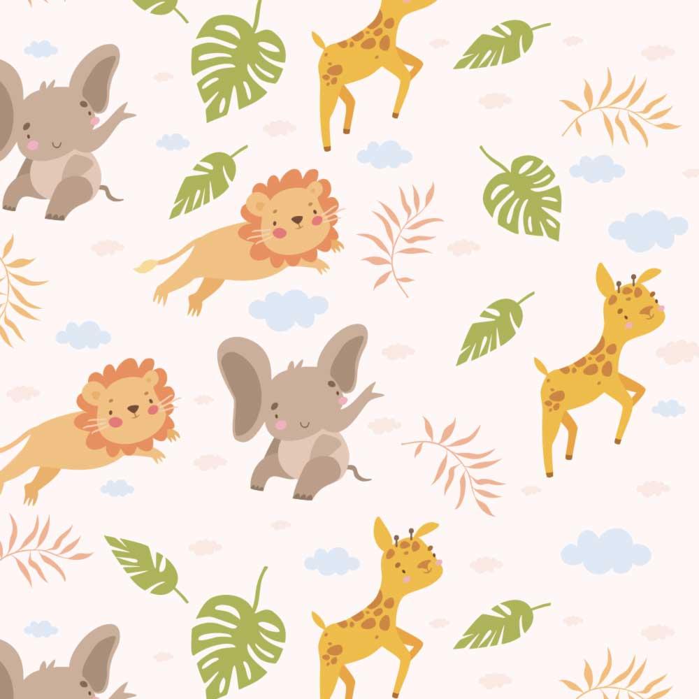 Papel de Parede Infantil - Safari Baby 2