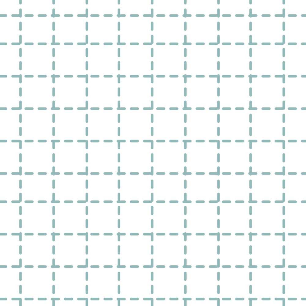Papel de Parede Infantil - Quadriculado Traços Azul