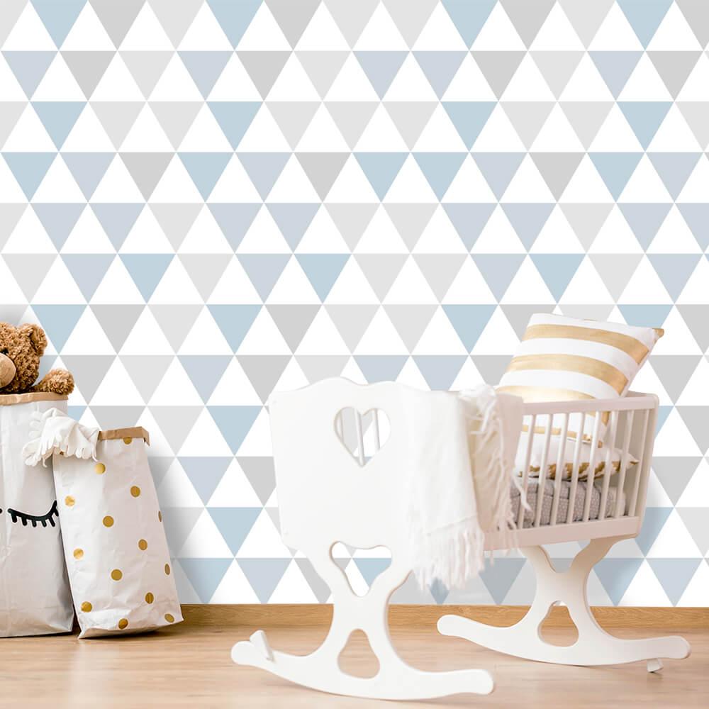 Papel de Parede Infantil Triângulos Geométricos 10
