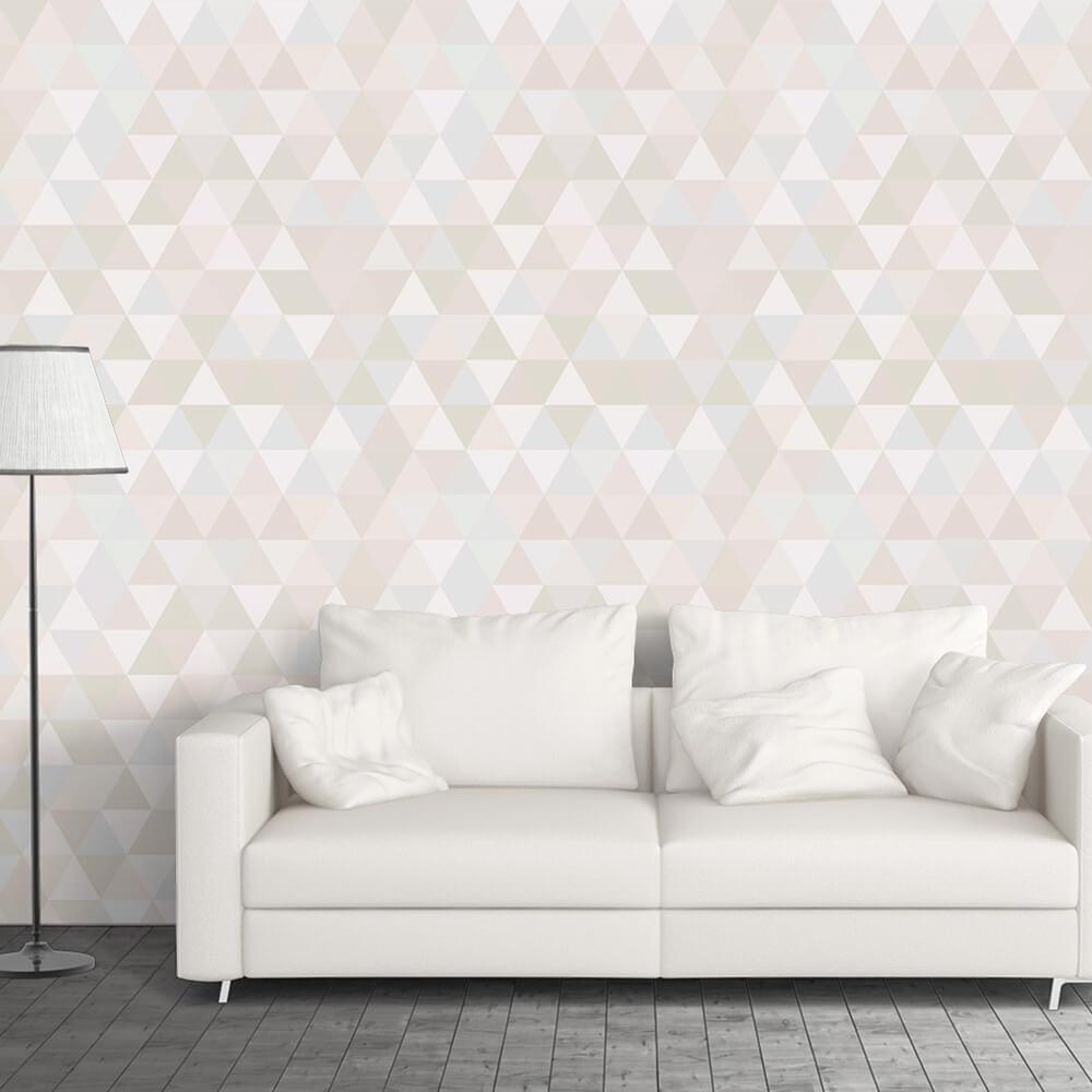 Papel de Parede Triângulos Pastel