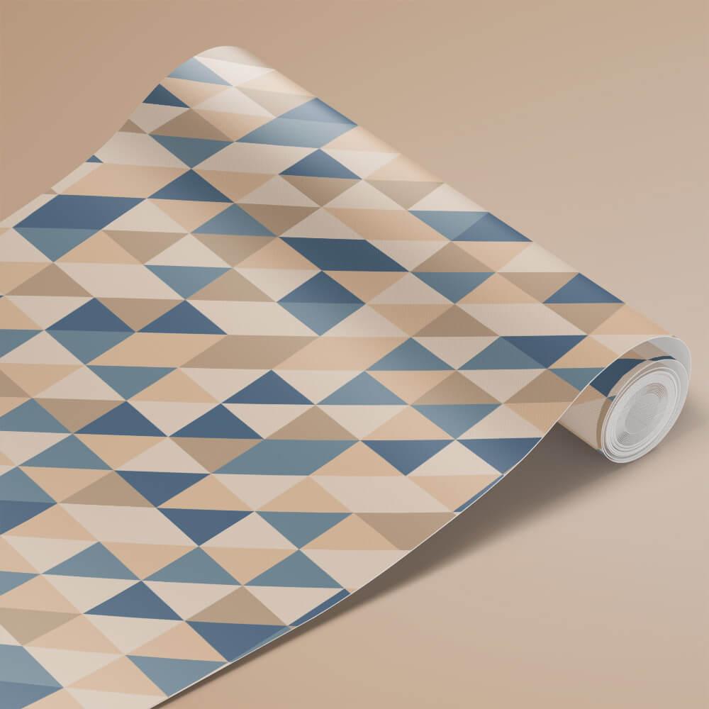 Papel de Parede Triângulos Retrô