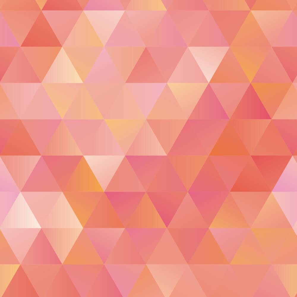 Papel de Parede Triângulos Salmão