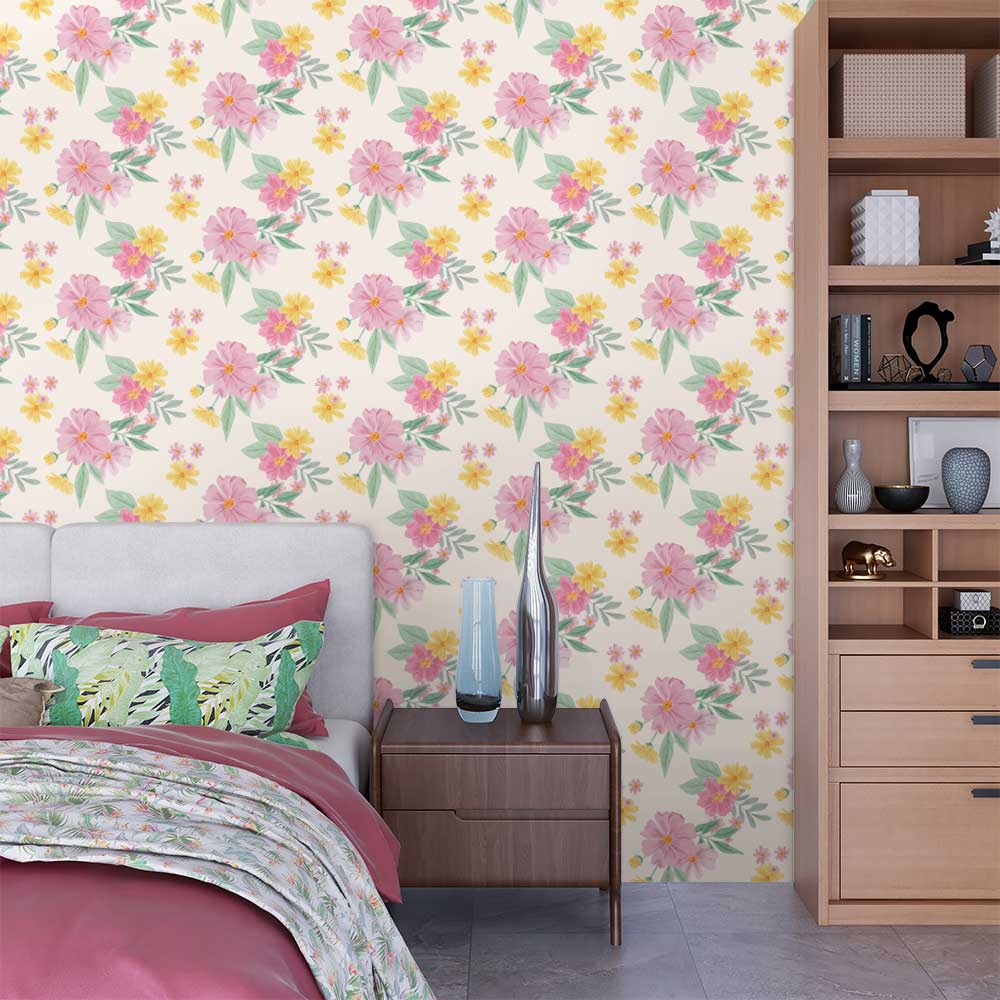 Papel de Parede Watercolor Floral