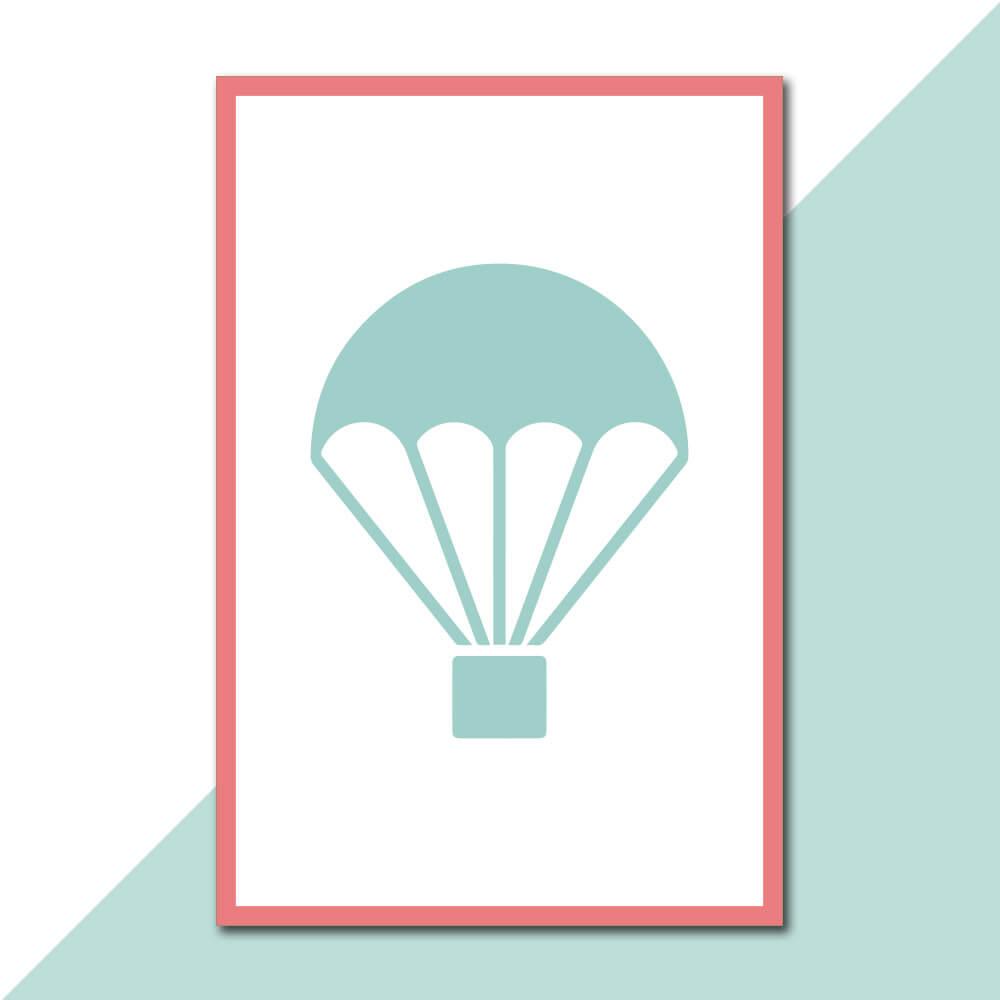 Placa Decorativa - A Mente é Como Paraquedas
