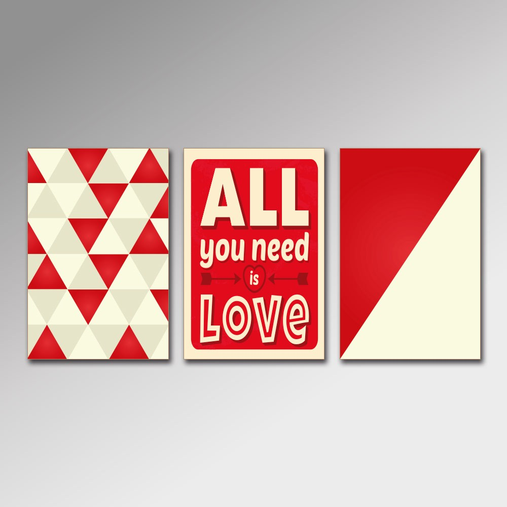 Placa Decorativa - All You Need Is Love