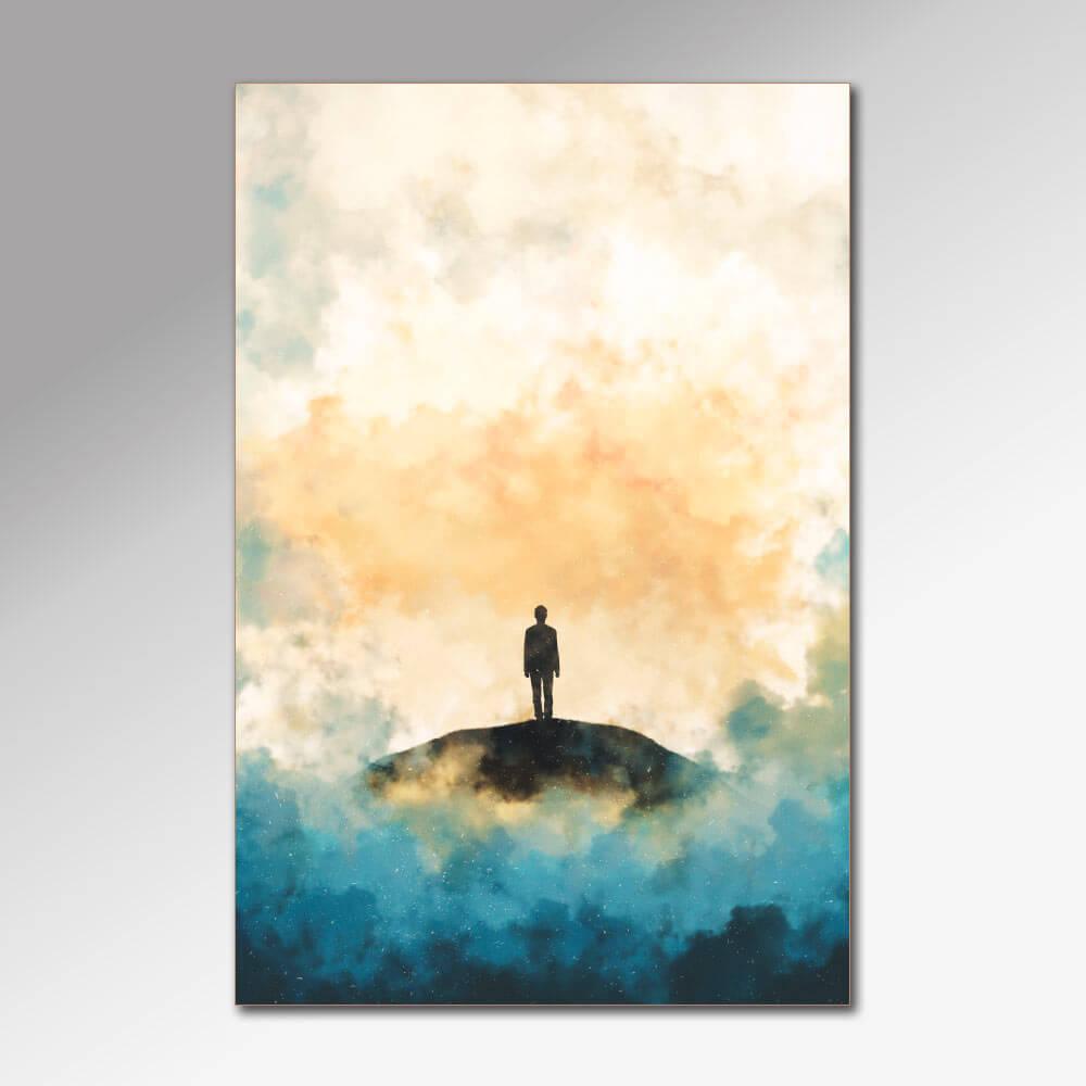 Placa Decorativa - Andando Sozinho