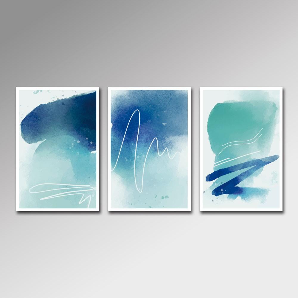 Placa Decorativa - Aquarela Azul