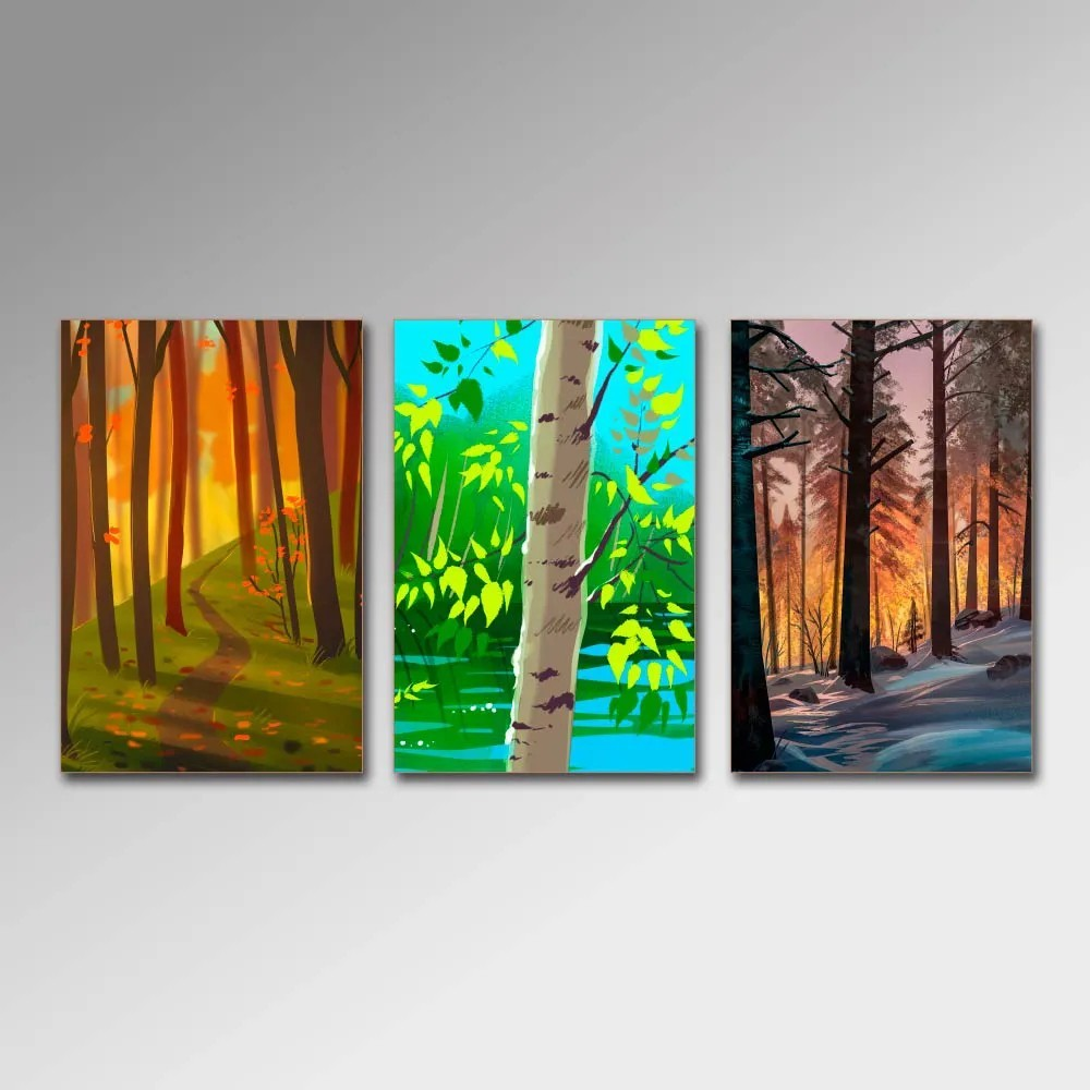 Placa Decorativa - Arvores